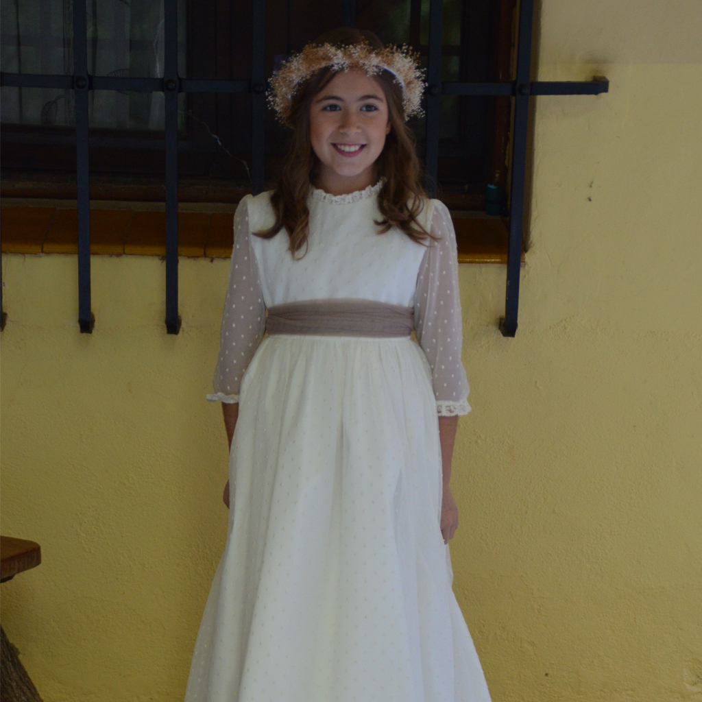 Vestido Primera Comunión modelo Alba
